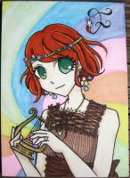 My Poupee Girl ACEO - Color by FoxyKitsuneko