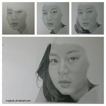 Uee - drawing wip part 2 by majaode