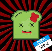Zoastie The Zombie Toast by xCassiex24