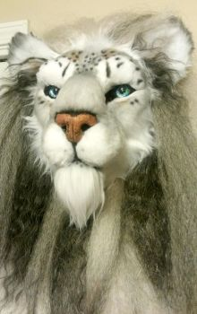 Complete HEAD - Barbary Lion/Snow Leopard Hybrid by Beastworks
