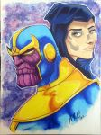 Thanos&Death Final by artildawn