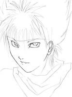Hiei Sketch by ShinTenshi