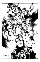 Lobster Johnson inks by stevenrussellblack
