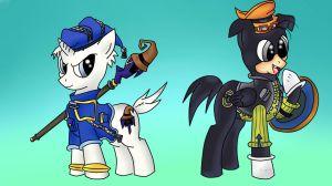 Donald and Goofy KH1 Ponified by pikashoe90