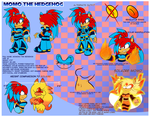 Momo the Hedgehog FULL Reference by SolaireMomo