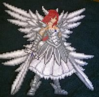 Erza Scarlet Heaven's Wheel - Fairy Tail Perler by AesynneZephyrstorm