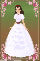 Scarlett O'Hara White Dress by kawaiibrit