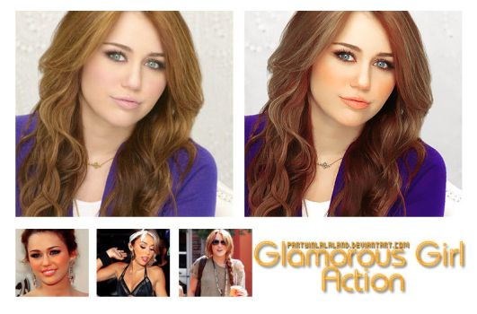 Glamorous Girl Action by PartyInLalaLand