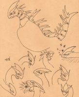 my lugia sketches by Suenta-DeathGod