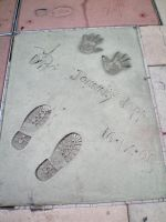 Johnny Depp's Feet and Hand Prints by edwardscissorhands33