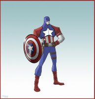 Redesign : Captain America by Toks-S