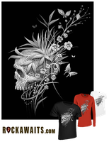 2013Skull and Flowers 3 by MateoGraph