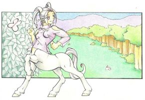 Centaur girl by ginan