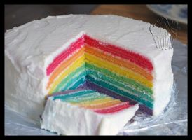 edible rainbow by CakeUpStudio