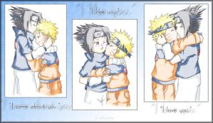 Naruto: 3 Kisses by allacoste