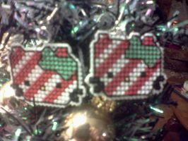 Holiday HK earrings by Sew-Madd