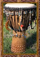 tribal drum by pooh-stock