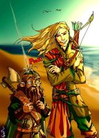 Legolas and Gimli by DavinArfel