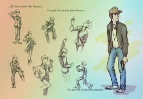 ...moves like Damon by FrAlichen
