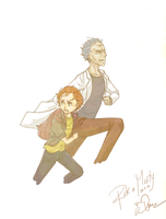 Rick and Morty by TacThginEht