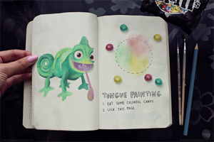 Wreck This Journal: Page 46, 47 by MarketaKindlova