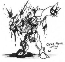 Open-Heart Man '2010 version' by Kainsword-Kaijin