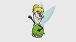 Olaf as Tinker Bell by TortallMagic