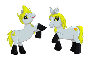 Rin and Len Ponies by I-Am-Imaginary