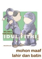 lebaran card warna by waloehcomic