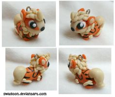 Chibi Arcanine Charm by Swadloon