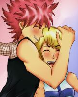 Natsu and Lucy by Scarlet2Summer
