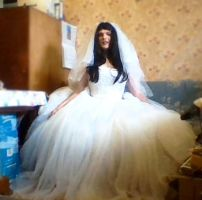 CD in wedding gown, March 2015 (2) by Ibbie89