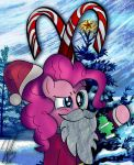 Here Comes Pinkie Claus! by iamthemanwithglasses