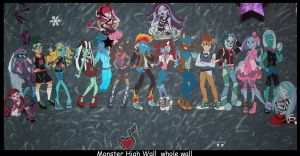Monster High wall art whole wall by Fallonkyra