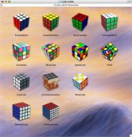 Rubik Cube Icons by memoryboy