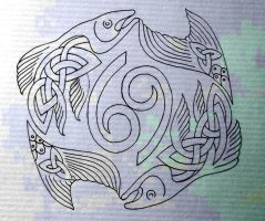 Celtic fish Pisces-Cancer by Tattoo-Design