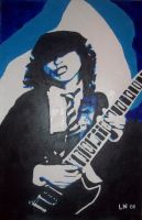 angus young acrylic by eugene23
