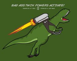 Shape of: a T-Rex. Form of: a Jetpack by somezombie1