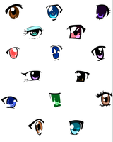 Anime Female Eyes by Super-PrincessPeach
