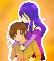 Romano and akirachanishere's OC by dattebanyan-I