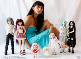 BJD Family and me Sept 2010 by Dynamene-Dolls