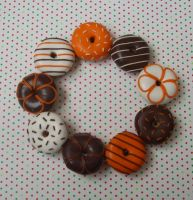 Choc Orange doughnuts by PORGEcreations
