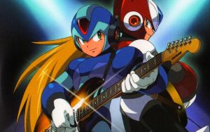 X and Zero Rock Man Wallpaper by Mega-X-stream