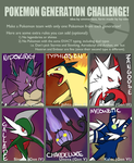 Pokemon Generation Challenge by LittleScarecrow