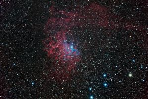 IC 405 - Flaming Star Nebula by DoomWillFindYou