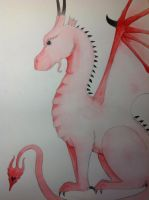 Red dragon (drawing from last year) by Saphirylis