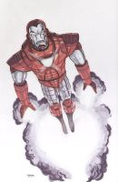Silver Centurion Iron Man Commission by gravyboy