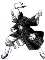Black and White Deidara by DeidaraFC