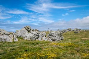 Ouessant Island 17 -  Rocks and Lighthouse by HermitCrabStock