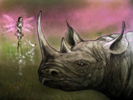 The Rhino and the Fairy by Suilenroc